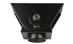 Cathedral Ceiling Adapter for Ceiling Mounts with 1-1/2 in. NPT Threading (Black)